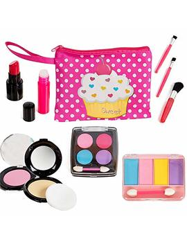 Beverly Hills Kids Pretend Play Makeup Cosmetic Kit With Bright Polka Dotted Cosmetic Bag by Beverly Hills