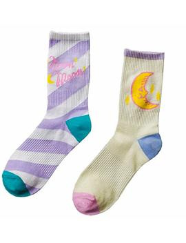Moonsocks Women's Cute Casual Socks Novelty Funny Pattern Crew Socks 2 Pairs by Moonsocks