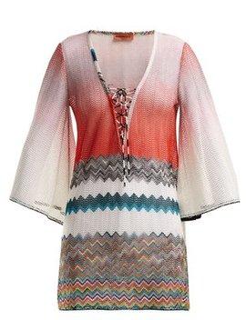 Zigzag Lace Up Kaftan by Matches Fashion