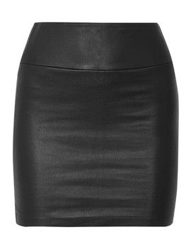 Leather Mini Skirt by Sprwmn