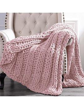 Amrapur Overseas Luxury Chunky Knit Acrylic Bed Sofa Throw by Amrapur Overseas