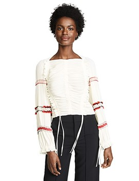 Pleated Stripes Top by 3.1 Phillip Lim