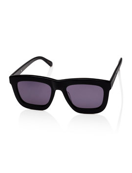 Deep Worship Square Monochromatic Sunglasses, Black by Karen Walker