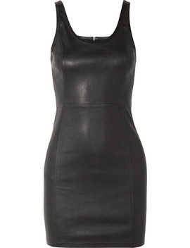 Stretch Leather Mini Dress by T By Alexander Wang