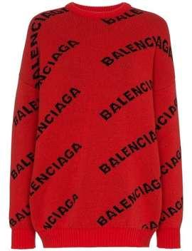 Logo Print Wool Jumper by Balenciaga