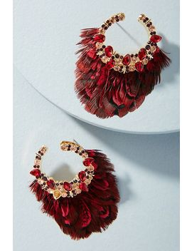 Lena Feather Drop Earrings by Mignonne Gavigan