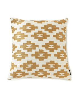 Conejos Crewel Embroidered Square Feather Pillow by Pendleton