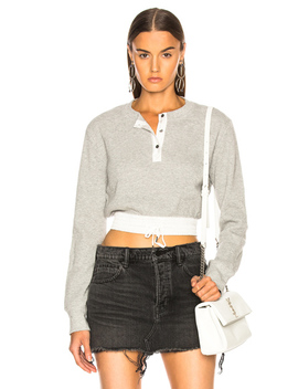 Waffle Cropped Top by T By Alexander Wang