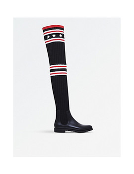Storm Rubber And Cotton Rainboots by Givenchy