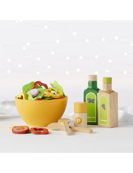 Hape Garden Salad Play Food Set by Crate&Barrel