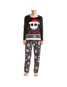 Disney The Nightmare Before Christmas Women's And Women's Plus Pajama Set by Disney