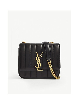 Vicky Small Quilted Leather Cross Body Bag by Saint Laurent