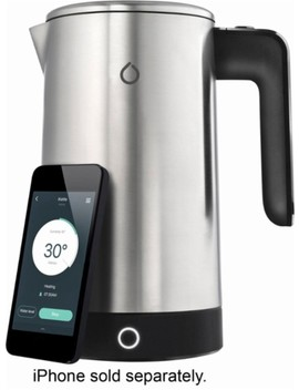 I Kettle 3rd Generation Wifi Connected 1.8 L Electric Kettle   Black/Silver by Smarter