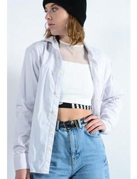 White Corduroy Shirt by Best Days Vintage