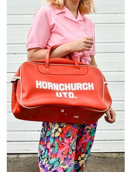Vintage 70s Red Holdall Sports Bag by Happy Dais