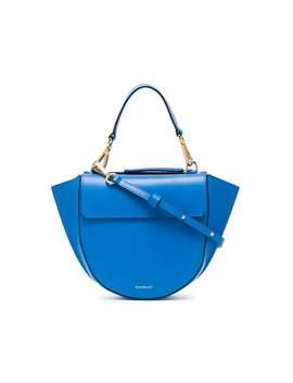 Blue Hortensia Mini Leather Shoulder Bag by Wandler