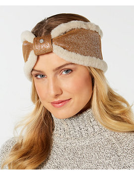 Shearling Bow Headband by Ugg®