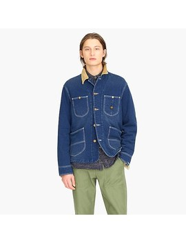 Wallace & Barnes Indigo Fleece Chore Jacket by J.Crew
