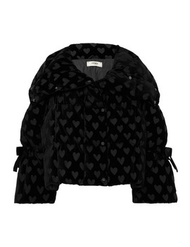 Velvet Jacquard Quilted Down Jacket by Fendi