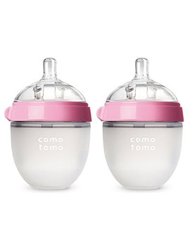 Comotomo Baby Bottle, Pink, 5 Ounce, 2 Count by Comotomo