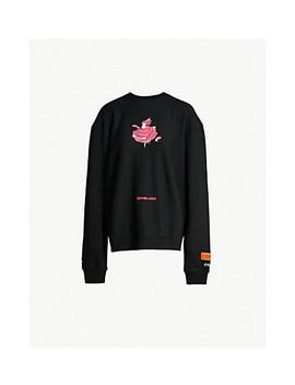 Serving Looks Embroidered Cotton Jersey Sweatshirt by Heron Preston