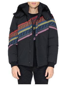 Men's Multicolor Retro Diagonal Stripe Ski Jacket by Fendi
