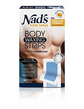 Nad's For Men Hair Removal Strips, 20 Count by Nad's