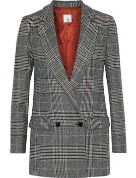 Steele Prince Of Wales Checked Wool Blend Blazer by Iris & Ink