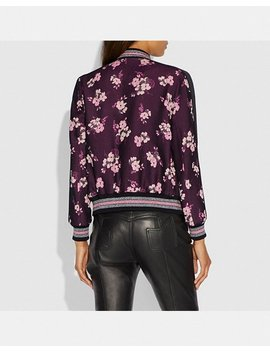 Forest Floral Jacquard Varsity Jacket by Coach