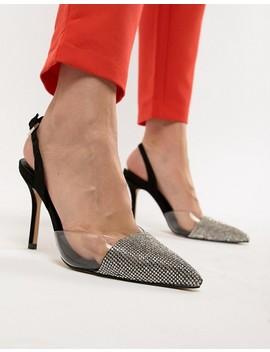 Aldo Sywiel Black Embellished Pointed Toe Slingback Heels by Aldo