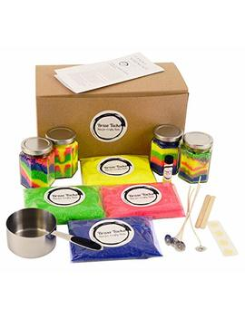 Kids Candle Making Kit  Make 4 Scented Granulated Wax Candles  Complete Beginners Set   Great For Parties, Stem Kits, Kids Crafts by Brass Tacks: Kits For Crafty Kids