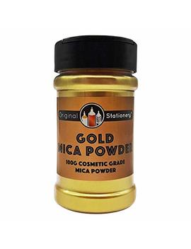 Gold Mica Powder Pearl Pigment   3.5 Ounces / 100 Grams [Huge X3 5 The Size Of Our Competitors] Cosmetic Grade – True Gold Color – Beautiful Mica For Slime, Soap Making, Bath Bombs, Make Up, Nails by Original Stationery