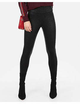 High Waisted Snake Print Stretch Leggings by Express