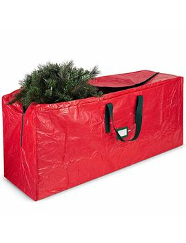 Artificial Christmas Tree Storage Bag   Fits Up To 7 Foot Holiday Xmas Disassembled Trees With Durable Reinforced Handles & Dual Zipper   Waterproof Material Protects From Dust, Moisture & Insects by Zober