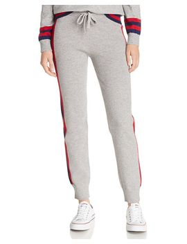 Color Block Track Stripe Jogger Pants   100 Percents Exclusive by Madeleine Thompson X Aqua