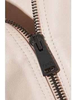 Sttudded Leather Biker Jacket by Fendi