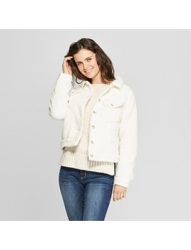 Women's Sherpa Jacket   Universal Thread™ White by Universal Thread