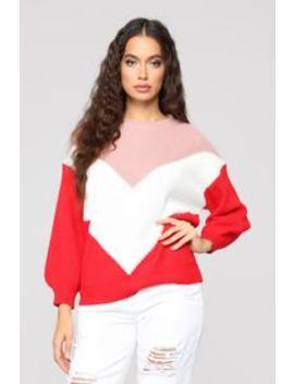 No Diggity Sweater   Pink/Combo by Fashion Nova