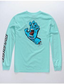 Santa Cruz Screaming Hand Mint Mens T Shirt by Santa Cruz