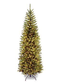 National Tree 7.5ft Kingswood Fir Pencil Tree With Clear Lights by National Tree