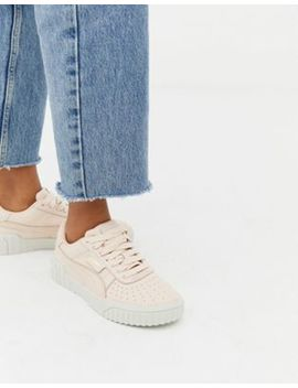 Puma Cali Emboss Cream Sneakers by Puma