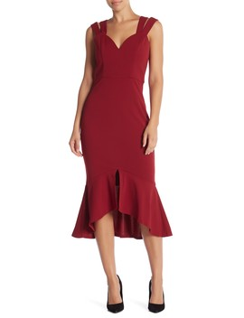 Alanis Double Strap Sweetheart Midi Dress by Lumier