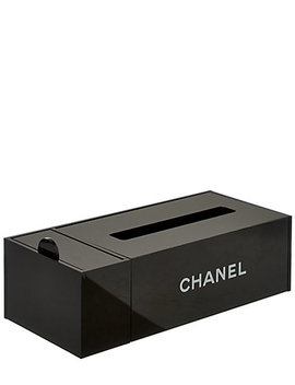 Chanel Black Long Tissue Box by Chanel