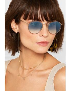Goldfarbene Sonnenbrille Mit Runden Gläsern by Ray Ban