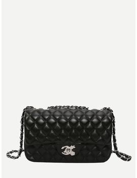Quilted Detail Chain Bag by Sheinside