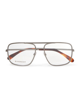 Aviator Style Stainless Steel Optical Glasses by Givenchy