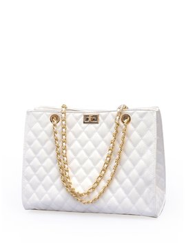 Quilted Chain Bag by Sheinside