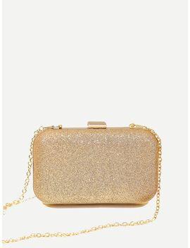 Glitter Chain Clutch Bag by Sheinside