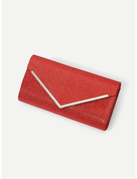 Flap Clutch Bag With Chain by Sheinside