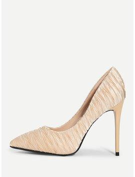 Pleated Stiletto Heels by Sheinside